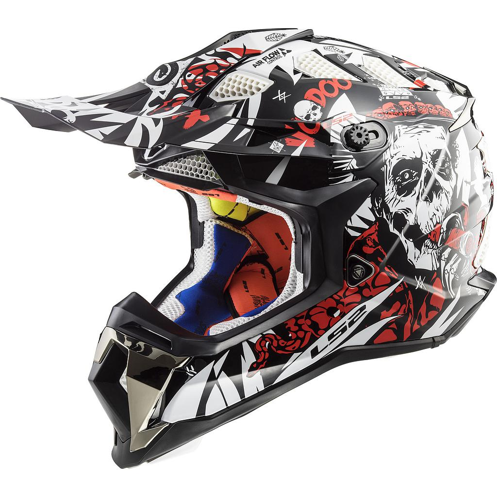 Helmet LS2 MX 437 SUBVERTER (VOODOO Black White Red)