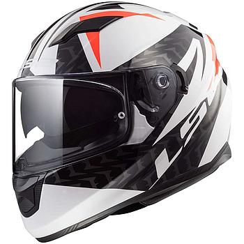 Helmet LS2 320 STREAM (COMMANDER White Black Red)